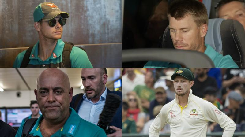 While Darren Lehmann will continue in his purpose as Australian men's organisation manager Steve Smith David Warner and Cameron Bancroft are dangling and won't underline in a fourth Test contra South Africa in a arise of ball-tampering row